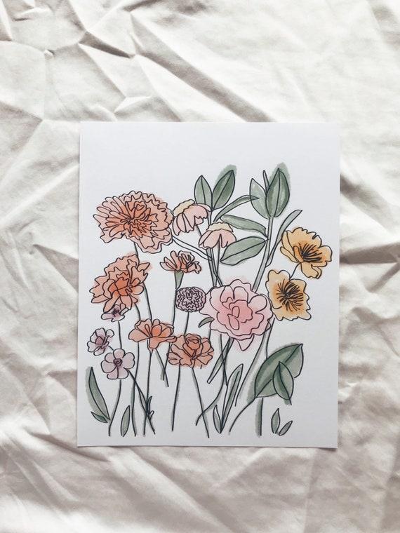 Growing florals Print