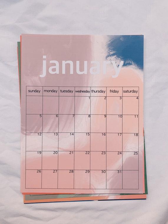 2020 Oil Blob Calendar