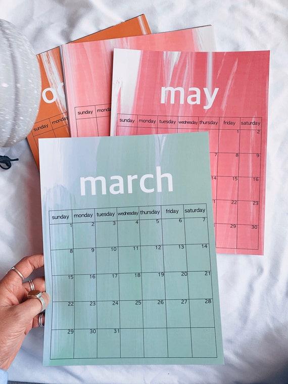 2020 Acrylic Wash Calendar