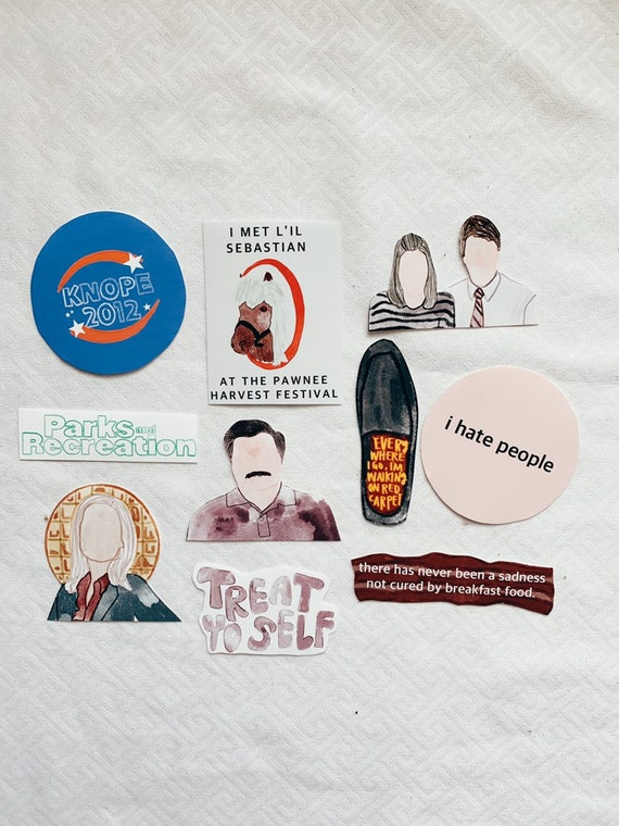 Parks and Rec Stickers