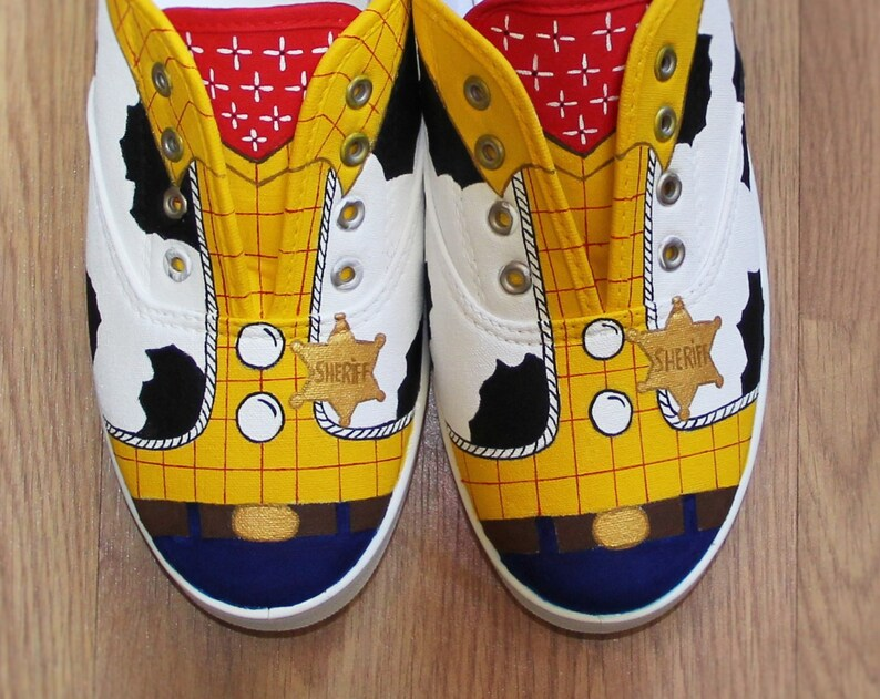 2919f458a56f1 Woody Toy Story Disney kids boys Women girls cowboy cowgirl Custom hand  painted canvas shoes sneakers lace up zapatillas pintadas