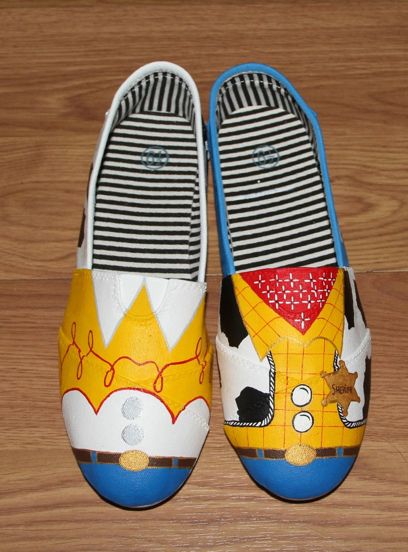 0cf3b66713345 Woody & Jessie Toy Story Disney adult Custom hand painted canvas shoes  sneakers slip ons zapatillas pintadas beatrizstudio