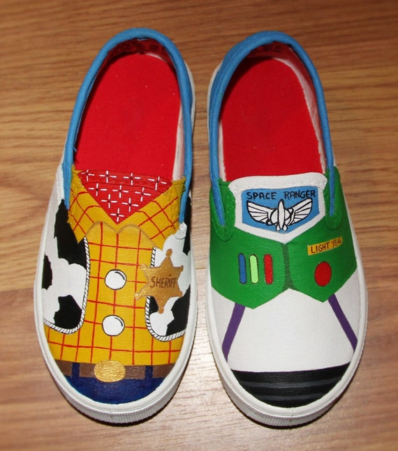 Painted Shoes Disney Painted Shoes Toy Story Painted