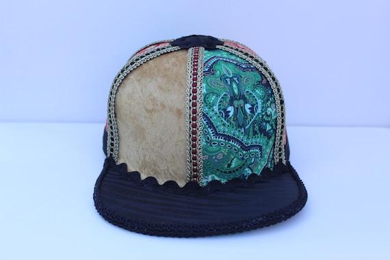 Baseball Hat  Tigerstripe Print design Choose color Blue Green Silver Pink