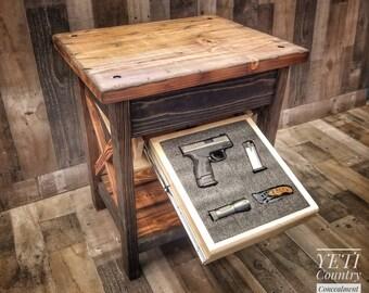 Gun Concealment Furniture Etsy
