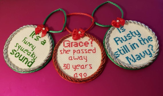 Christmas Vacation Aunt Bethany Quote Christmas Cross Stitch Ornaments