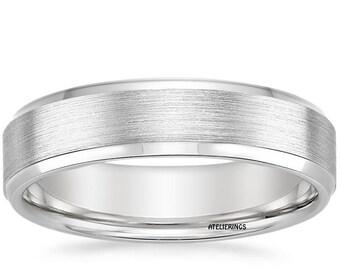 14 K Gold 5.5 mm Beveled Edge Wedding Band