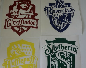 81bdd4bd Harry Potter Inspired House Decals - House Crest Decal - Hogwarts Inspired  Decal - Wizard Decal - Harry Potter Inspired Decal