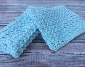Crochet Washcloth, Crochet Dishcloth, Cotton Washcloth, 3 pack