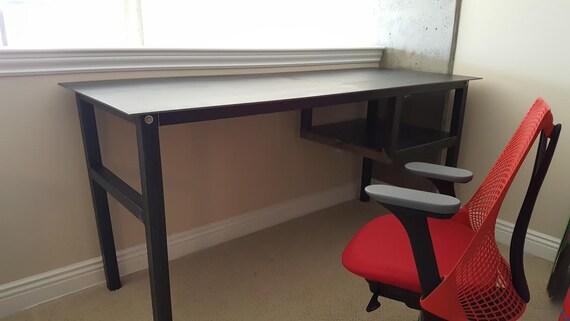Industrial Desk Modern Desk Custom Desk Steel Work Table | Etsy