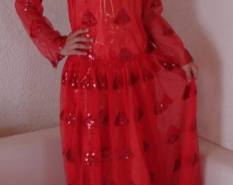 oriental princess dress, jli kurdi red, Kurdistan guly sur