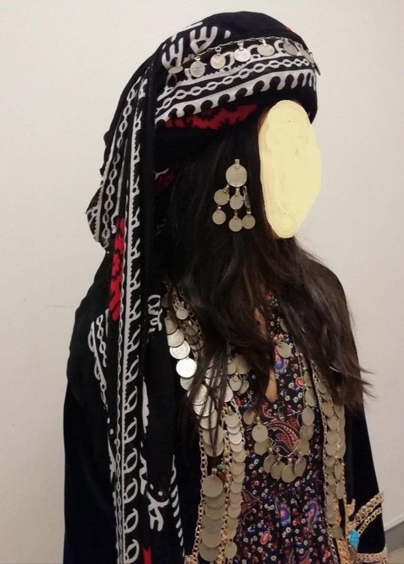 folcloristicboho scarf black white purple pink green red batik Kurdish traditional headscarf hawri kurdish fabrik Kurdistan Women scarf