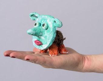 Stocking Gift, Fun Humorous Paper Mache Figurine, Funny gift