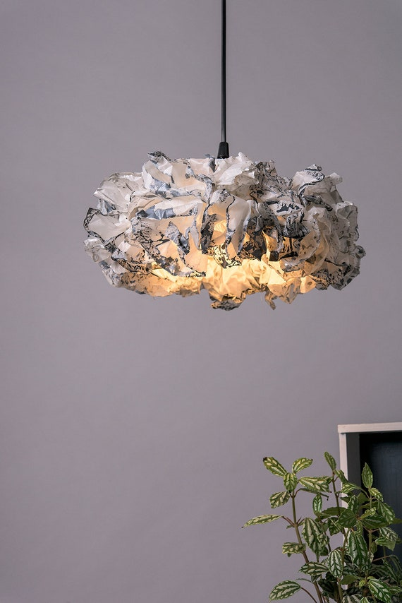 Grey Ceiling Light Fixture Rustic Pendant Light Modern Lamp Etsy