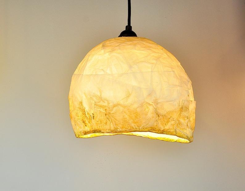 Goldene Schlafzimmer Lampenschirm, nordischen Dekor, weich Warm  romantisches Licht, hängende Lampe, Deckenleuchte, künstlerische Papier  Lampe