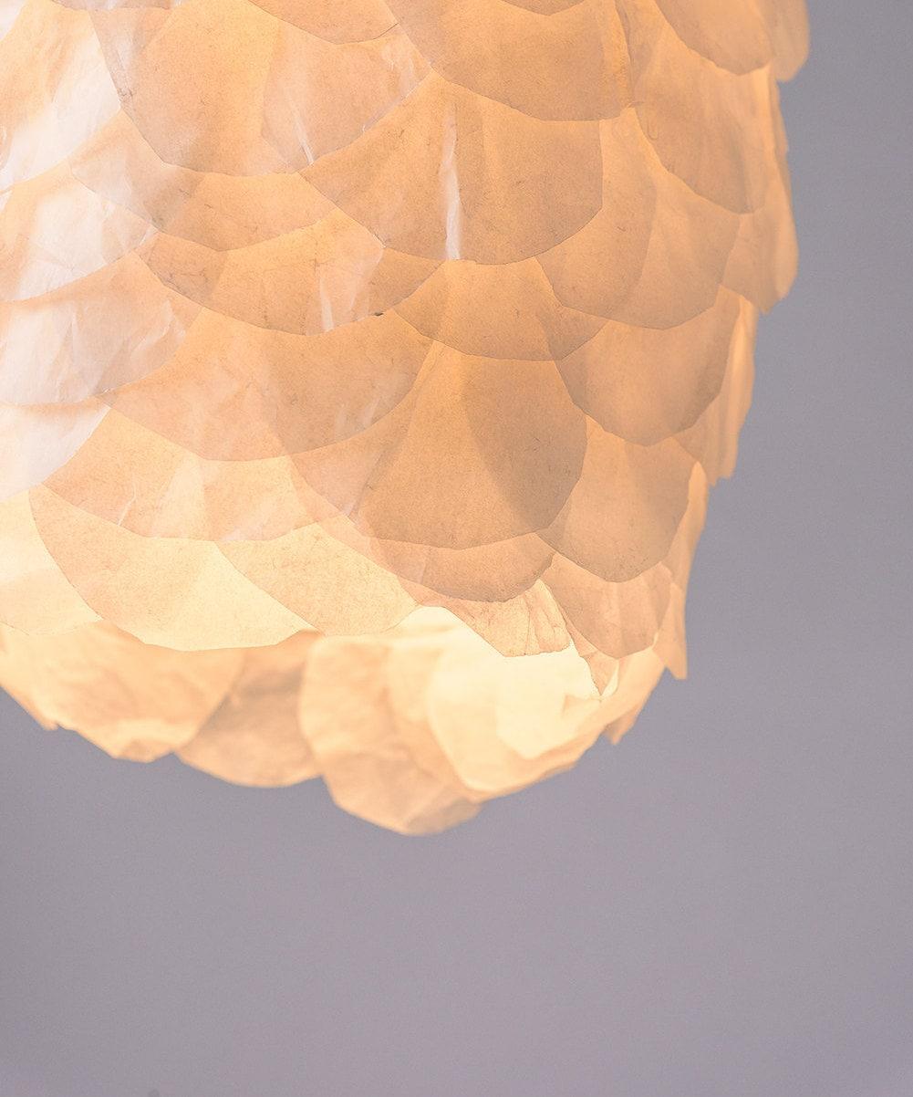 Elegante lampada a sospensione tonalità di carta lampada a