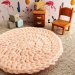 Miniature rug, Doll house furniture, Dollhouse miniature furniture, Miniature dollhouse accessory, Miniature dollhouse rug, Dollhouse carpet