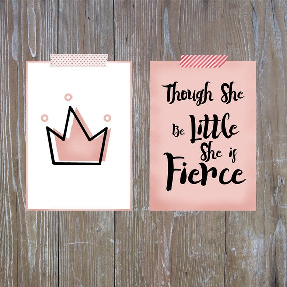 Princess Room Decor Baby Girl Wall Art Crown Print Baby Etsy