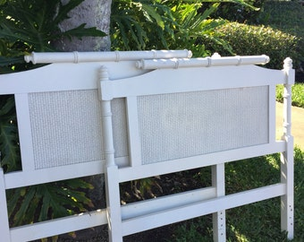 Wood Rattan Style Twin Headboards with Caning-Shipping not included but will assist with a quote