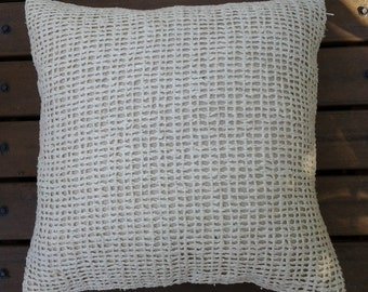 Cushion Cover C011 Open Weave Off White 40x40