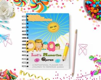 5c3626a9a0b Quran Memorization Islamic Muslim Kids Printable Planner - Planner - Islamic  Planner - Muslim Planner - Kids -Daily Planner-Kids Shedule
