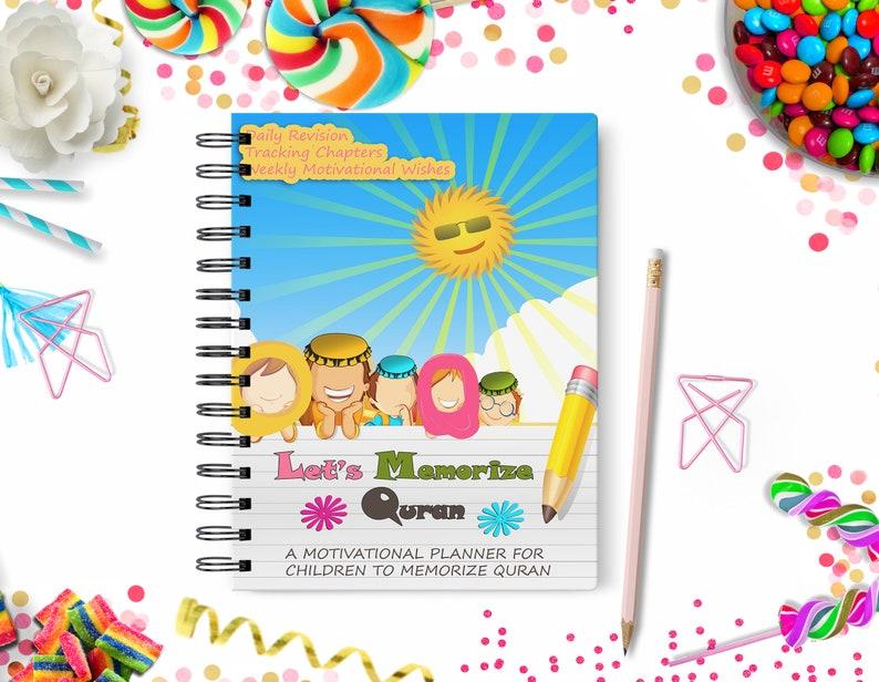 Quran Memorization Islamic Muslim Kids Printable Planner - Planner -  Islamic Planner - Muslim Planner - Kids -Daily Planner-Kids Shedule
