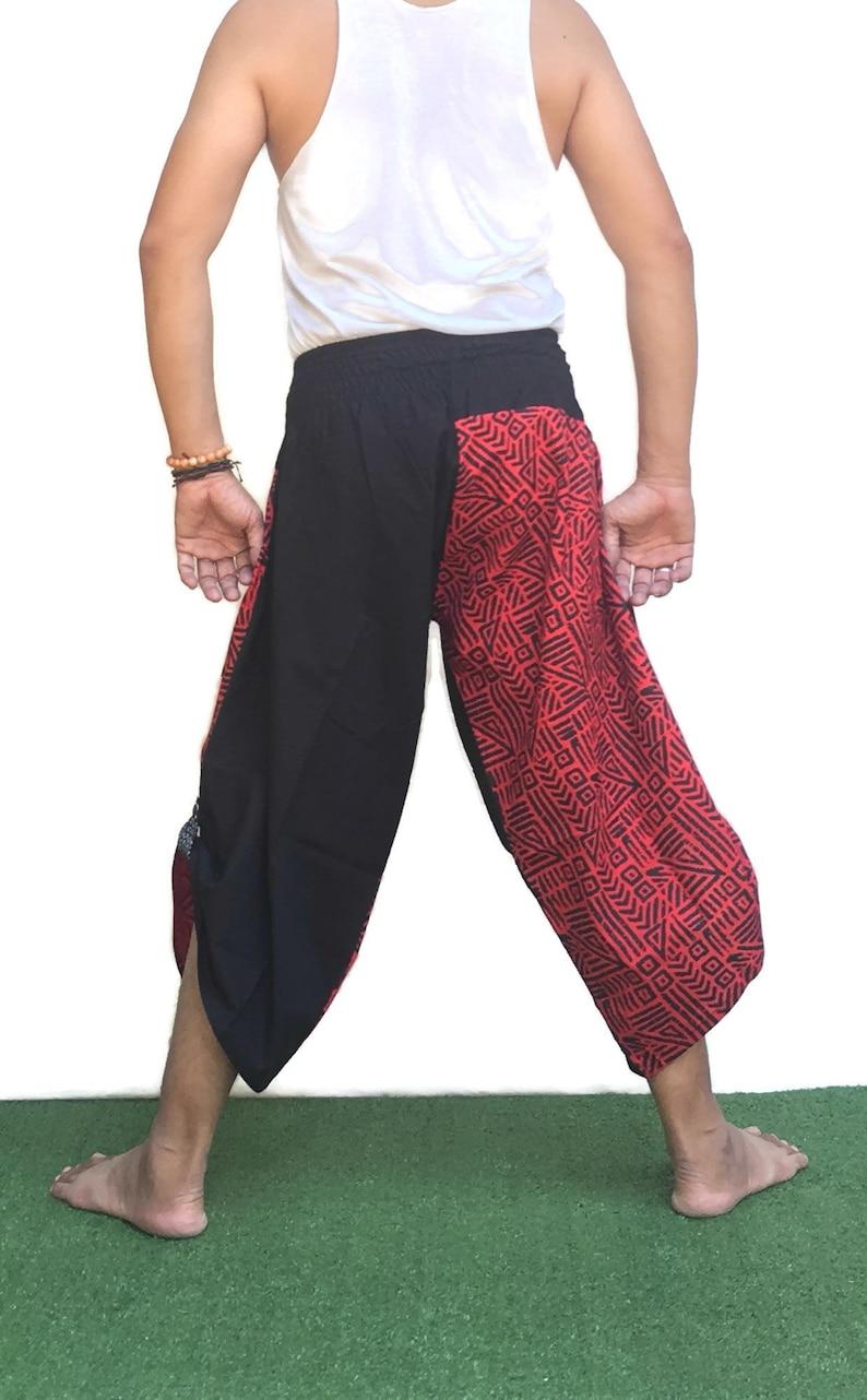 Samurai pants  Ninja pants Men/'s fashion Harem pants Yoga pants  Wide Leg pants Thai Fisherman pant  Unisex Trousers Free running pants