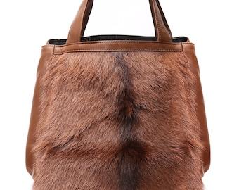 M.KUB F bag soft leather and fur