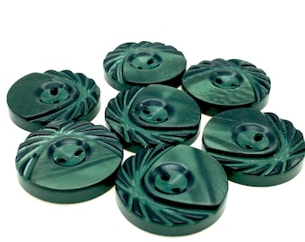 Emerald Green No 22 Always Knitting And Sewing 10 Coloured Edge Flower Buttons 10mm
