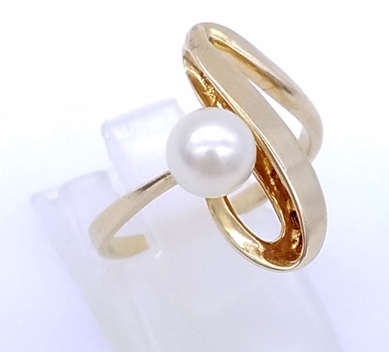Fine Rings 10k White Gold Ring Set With 2-6mm Cultured Pearls Size 6.25 Discounts Sale