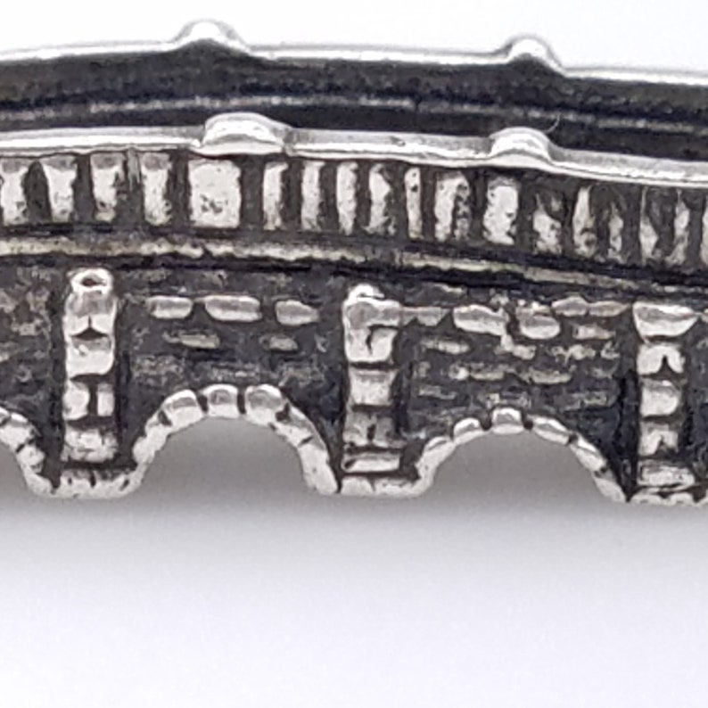 Vintage Sterling Silver London Bridge Charm With Pennant JP Sterling