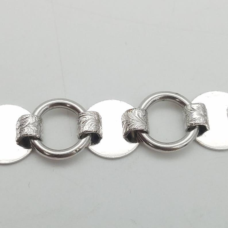 Vintage Sarah Coventry Silver Circle Link 3 in 1 Bracelet /& Necklace Set