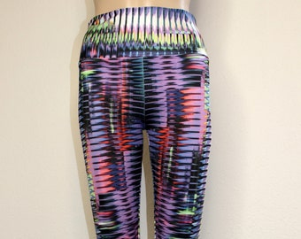 Blurry Lines - Stretchy Spandex Leggings