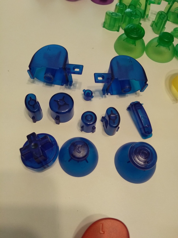 Nintendo Gamecube Controller Mod - Diy Kit Full Button Set Translucent Blue