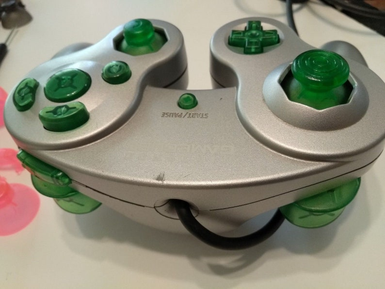 Nintendo Gamecube Controller Mod - Diy Kit Full Button Set Translucent Green
