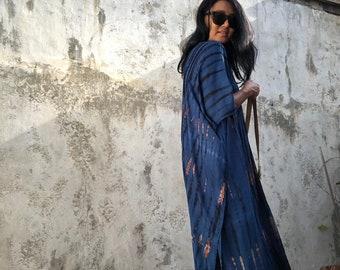 4d972969b819 KL05/110cm New Tie Dyed ,kaftan Midi dress ,Maxi dress,Vacation ,Evening  dress,Loose fit,Elegant,Cocktail dress