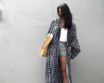 LK28/Long Kimono, Robe, Summer,Unisex Kimono,Tall Women's,Vacations, Holiday Look