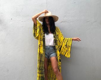 LK27/Long Kimono, Robe, Summer,Unisex Kimono,Tall Women's,Vacations, Holiday Look