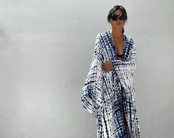 LKB23/Oversized length Long Kimono, Robe, Summer,Unisex Kimono,Tall Women's,Vacations, Holiday Look