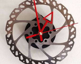 Brake Time for Bicyclists Bicycle Clock - Unique Wall Clock - Industrial Clock - Steampunk Clock - Cycling Gift - Bike Clock - Gear Clock