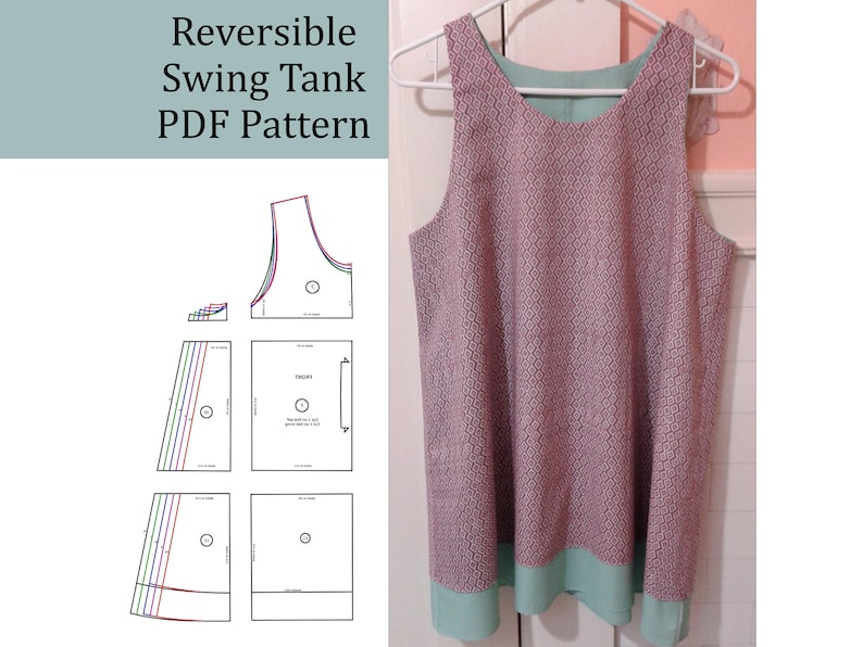 d08daee15a70 Women s Reversible Swing Tank Top PDF Pattern with length