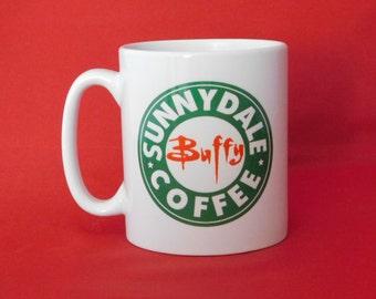 Buffy The Vampire Slayer Sunnydale Starbucks Inspired Coffee Mug 10oz