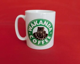 Marvel Black Panther Wakanda Captain America Civil War Starbucks Inspired Coffee Mug 10oz Avengers