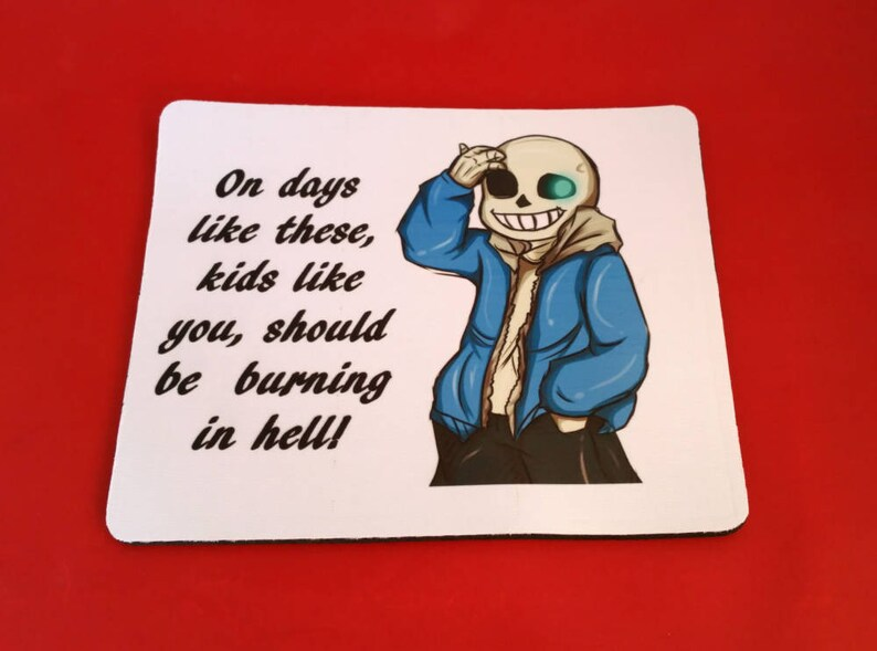 Undertale Sans Artwork with Quote Mouse Mat Pad PC & Laptop Gaming