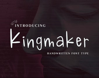 Kingmaker Handwritten Font, instant download, fun for Cricut, Sillouette or Glowforge. Commercial License.