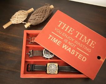 3 Watch Custom Handmade watch box - Cameo Color