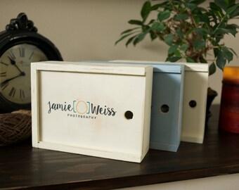 Bulk of 5 - 5X7 Custom Handmade Photo Box for 5x7 Prints
