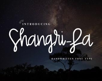 Shangri-la Handwritten Font, instant download, fun for Cricut, Sillouette or Glowforge. Commercial License.