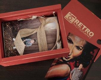 4X6 Custom Handmade Photo Box for 4x6 Prints - Cameo Color
