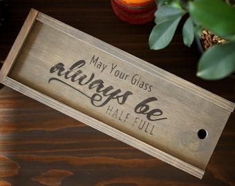 Wine Box + Free Shipping, Holiday Gift Idea, Wedding, Christmas, Thanksgiving, Birthday